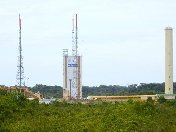 Kourou - Ariane Startrampe. Foto: Wolfgang Hesseler