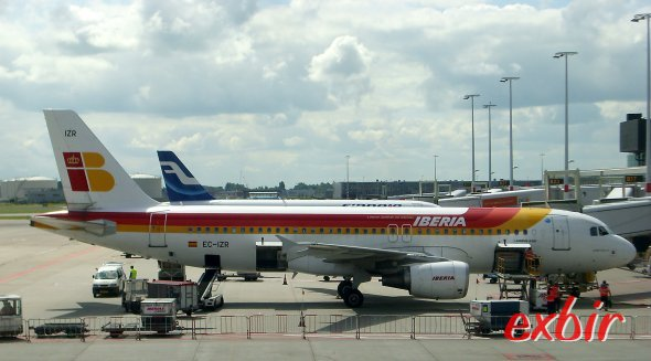 Ein Airbus A 320 von Iberia. Foto: Christian Maskos
