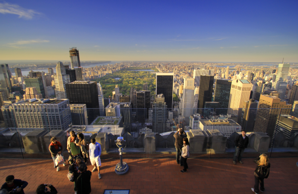 Blick vom Top of the Rocks in Manhattan/New York