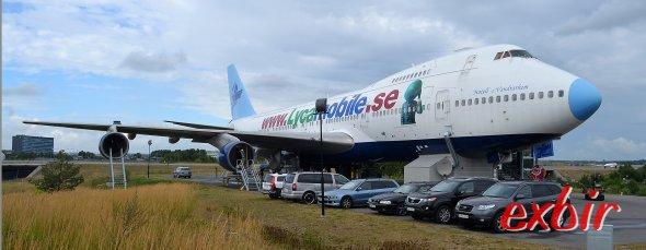 Die Boeing 747-212B hat eine letzte heimat unweit des Flughafen Arlanda gefunden.  Foto: Christian Maskos