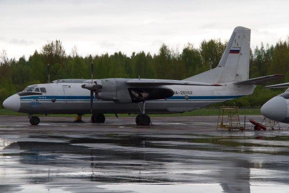 Eine AN 24 von pskov Avia.  Foto: Bernd Karlik