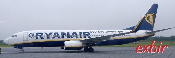 Eine Boeing 737-800 von Ryanair. Foto: Christian Maskos