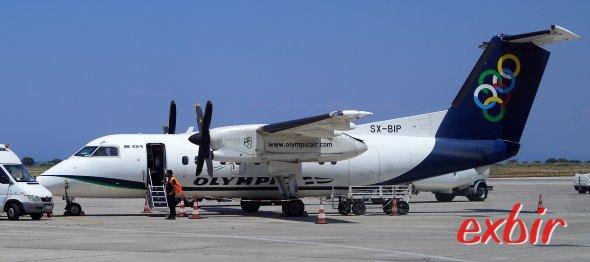 Olympic Airs SX-BIP brachte mich nach Leros - meinem 600stem besuchten Airport.  Foto: Christian Maskos