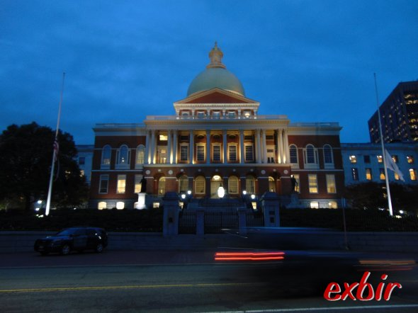 Das Boston State House.