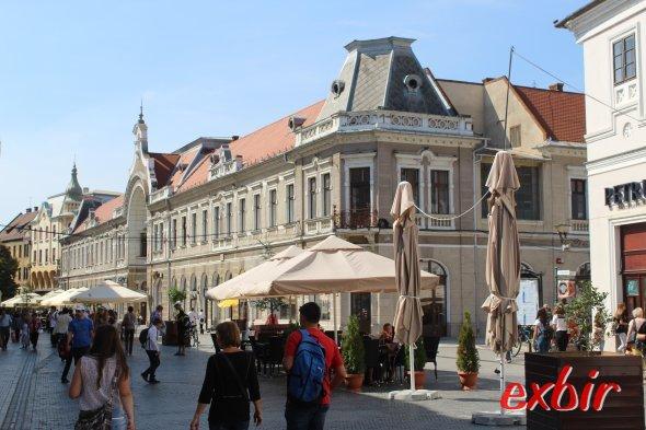Fußgängerzone in Oradea.