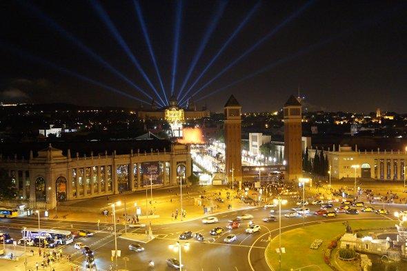 Nachts in Barcelona Spanien