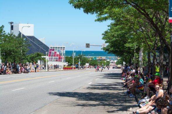 Blick auf den Eriesee während der Cleveland Pride 2017