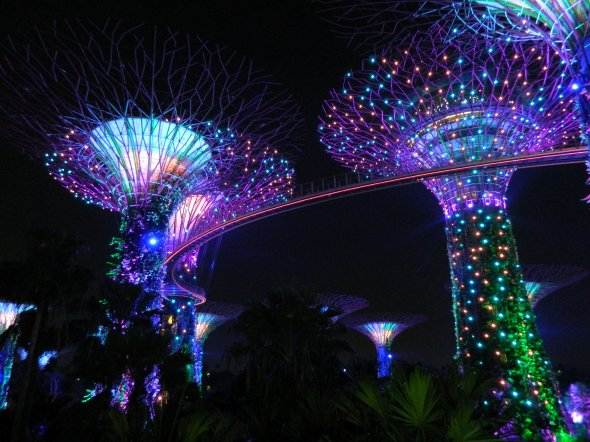 Park 'Gardens by the Bay' in Singapur.
