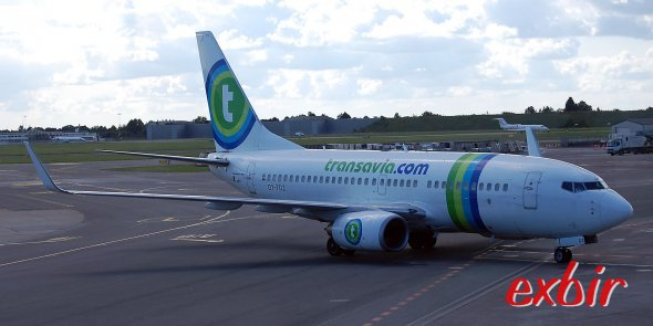 Eine Boeing 737-700 von Transavia. Foto: Christian Maskos