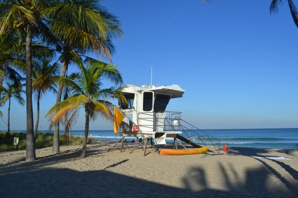 Strand un LifeGuard Turm in Ft. Lauderdale.