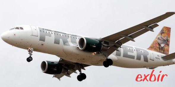 Mit dem Billigflieger um die Welt: Frontier Airlines mit den berühmten Tiermotiven fliegt ab etwa 50$ innerhalb der USA:  Foto: Christian Maskos