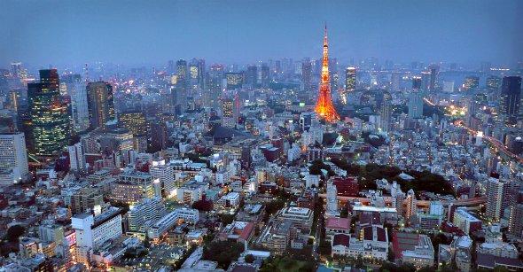 Tokio am Abend.