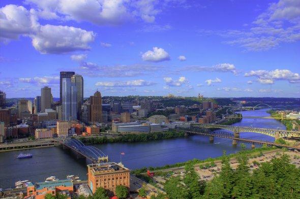 Blick auf Pittsburgh Downtown (Pennsylvania)