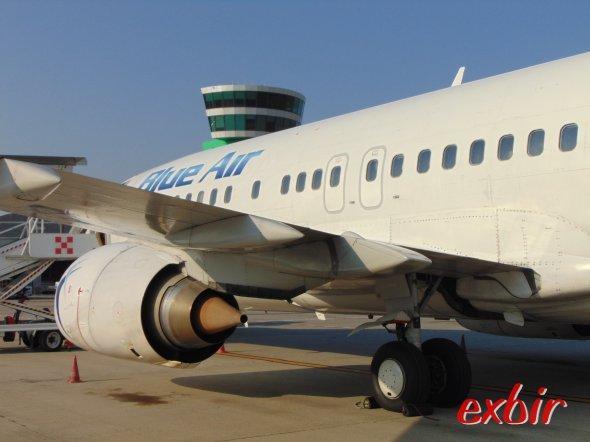 Eine Boeing 737 von Blue Air.  Foto: Christian Maskos