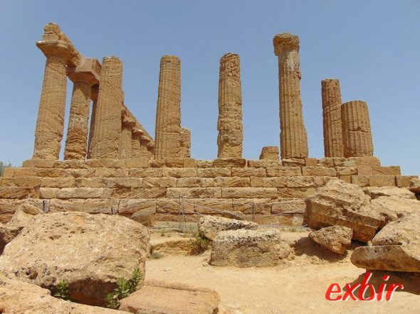 Das Tal der Tempel in Agrigent.  Foto: Christian Maskos