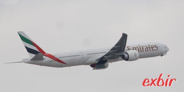Eine Boeing 777 von Emirates.  Foto: Christian Maskos