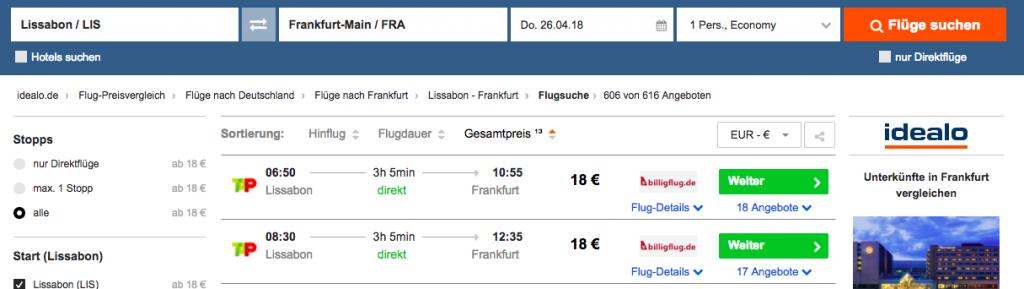 flugticket moskau frankfurt