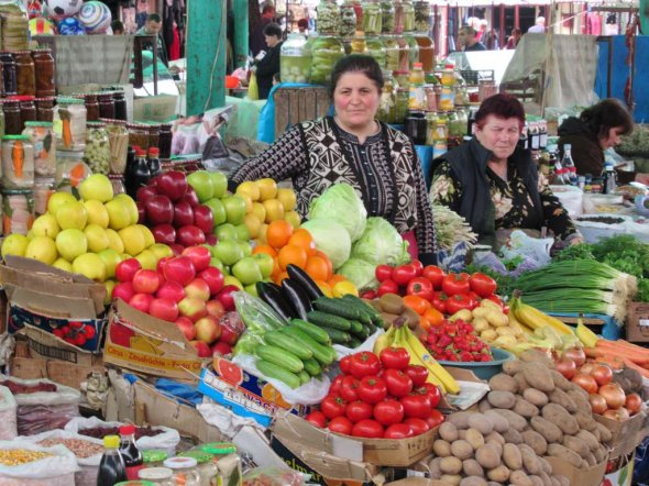 Stepanakert Market  Fresh fruit and vegetables are available at the public market in Stepanakert, Republic of Nagorno Karabakh.