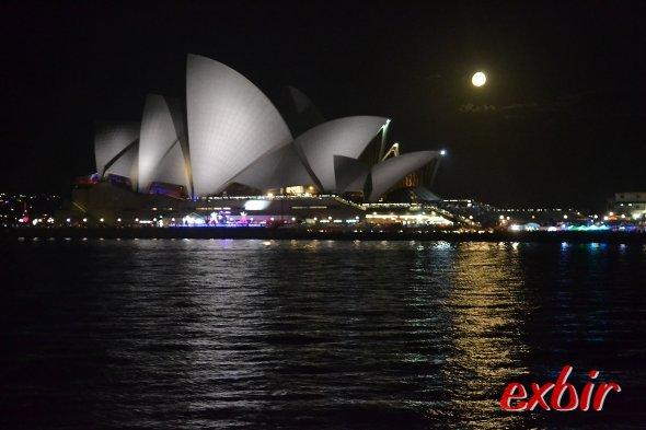 Eine tolle Vollmondnacht am Circular Quay.Foto: Christian Maskos